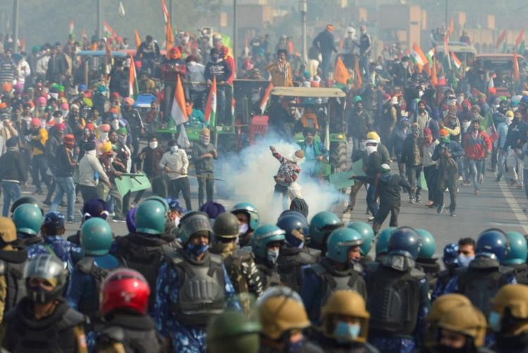 Indiase boeren bezetten Delhi