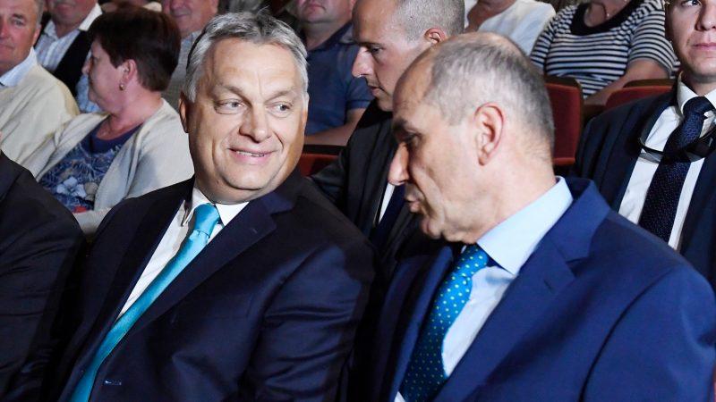 Sloveense premier Jansa Trump achterna