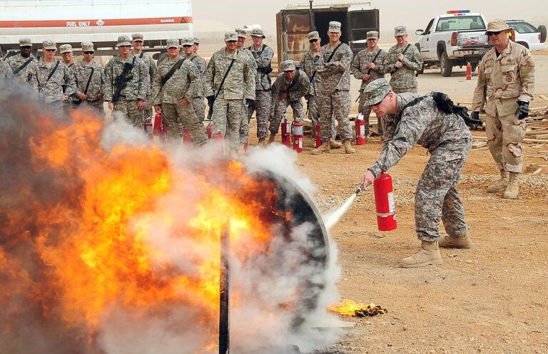 PFOS-vervuiling op militaire basissen van de VS
