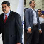 Nicolás Maduro (links) en Juan Guaidó (rechts) https://commons.wikimedia.org )