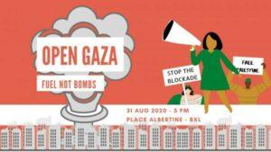 Open de Gazastrook, ze hebben brandstof nodig, geen bommen!
